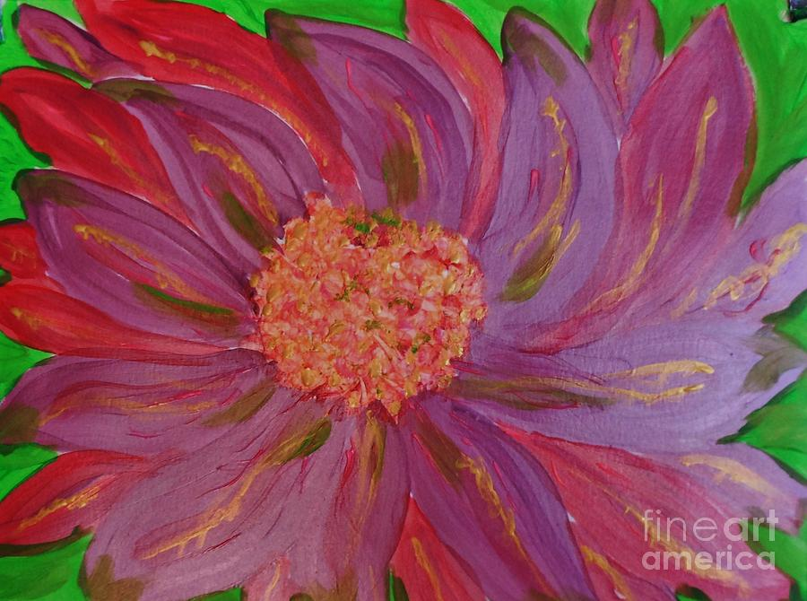 Fantasy Painting - A Brilliant Flower by Marie Bulger