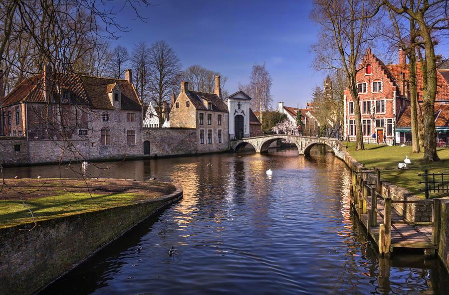Brugge Photograph - Blue Bruges by Carol Japp