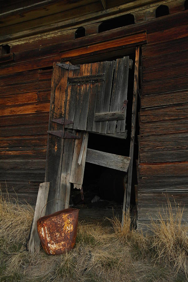 Old Photograph - A Bucket And A Door by Jeff Swan