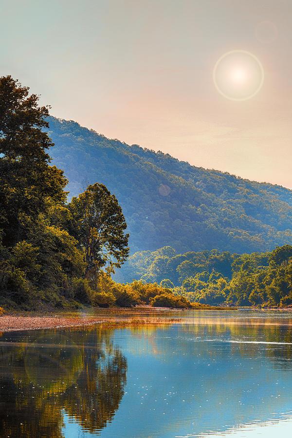 Sunset Photograph - A Buffalo River Morning  by Bill Tiepelman