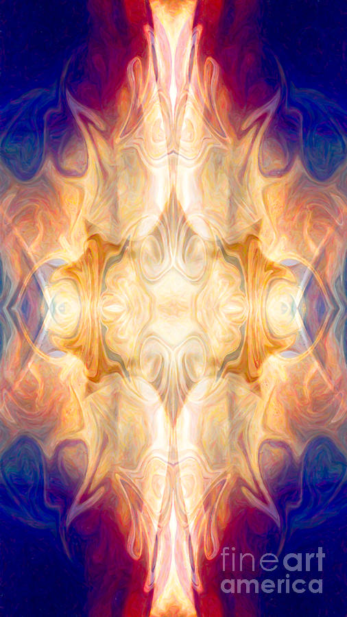 A Burst Of Light Abstract Living Artwork By Omaste Witkowski Painting