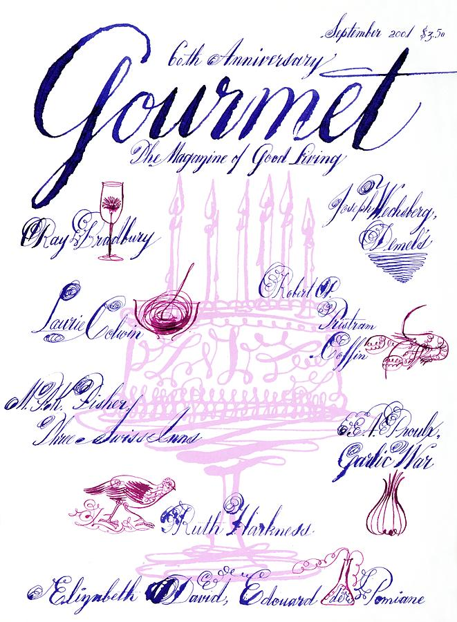 A Calligraphy Illustration Celebrating Sixty Photograph by Elvis Swift