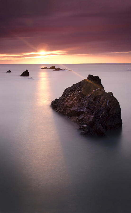 Sunset Photograph - A Calm Day by Andrew James