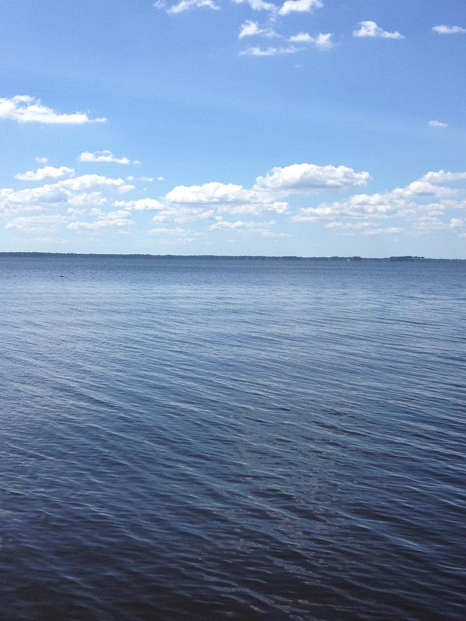 Pamlico Sound Photograph - A Calm Pamlico Sound by Joan Meyland