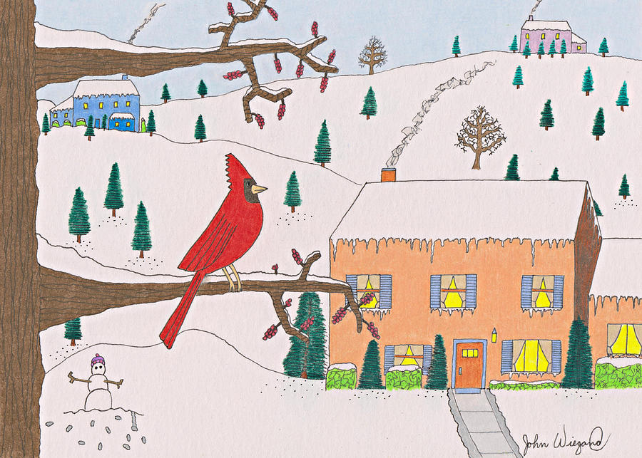 A Cardinal Christmas by John Wiegand