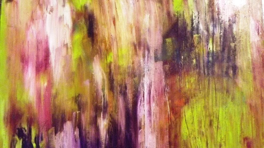 Modern Painting - A Cascade Of Hues by Jagjeet Kaur