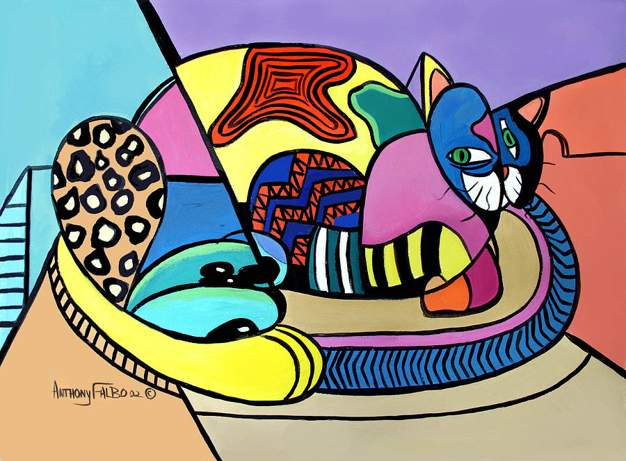 A Cat Named Picasso Painting by Anthony Falbo