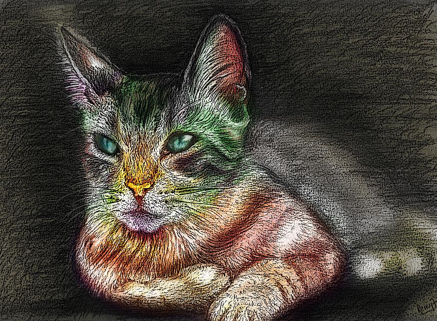 Cat Digital Art - Savanna Cat  by Remy Francis