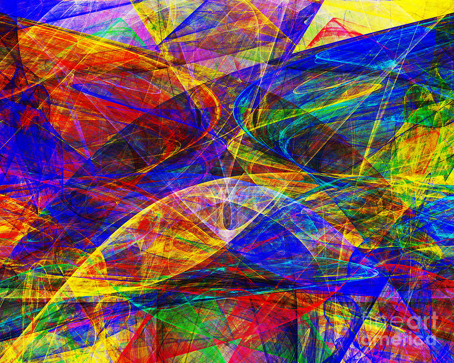 Fractal Digital Art - A Cats Dream 20130512 Horizontal by Wingsdomain Art and Photography