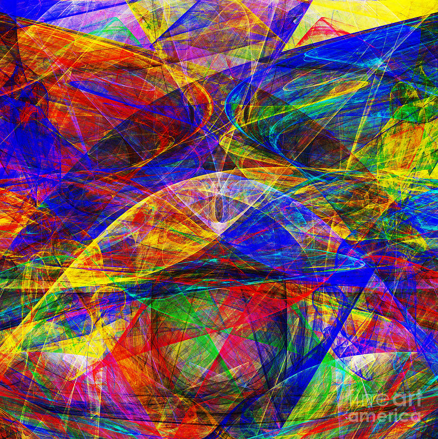 Fractal Digital Art - A Cats Dream 20130512 Square by Wingsdomain Art and Photography