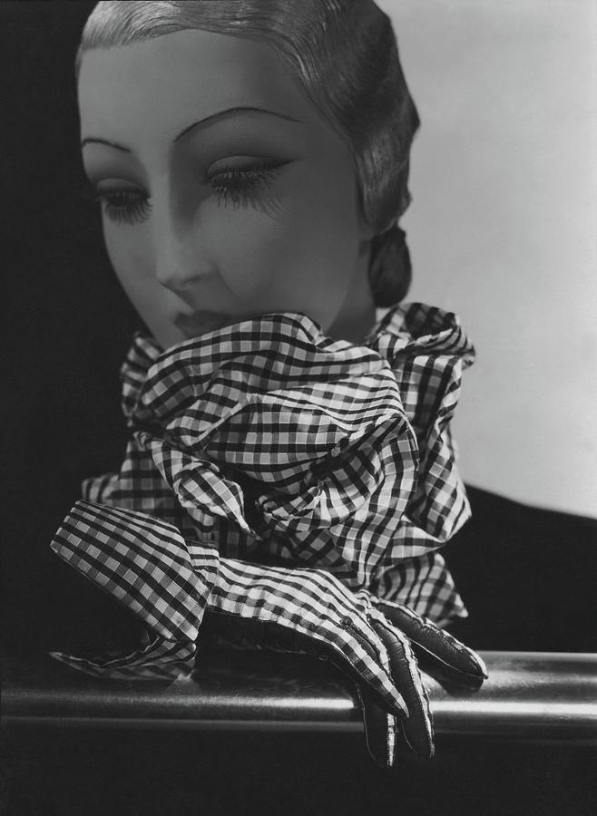 A Chanel Scarf And Gloves On A Mannequin Photograph by George Hoyningen-Huene