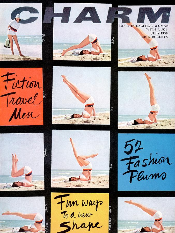 A Charm Cover Of A Model Posing On A Beach Photograph by Maurice Pascal