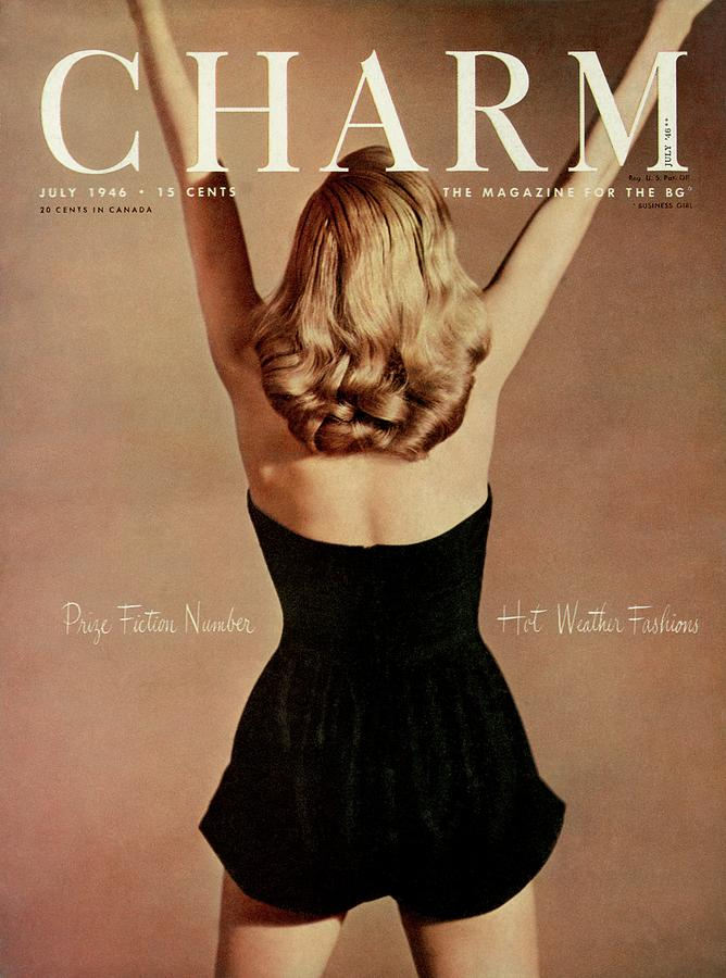 A Charm Cover Of A Model Wearing A Romper Photograph by Jon Abbot
