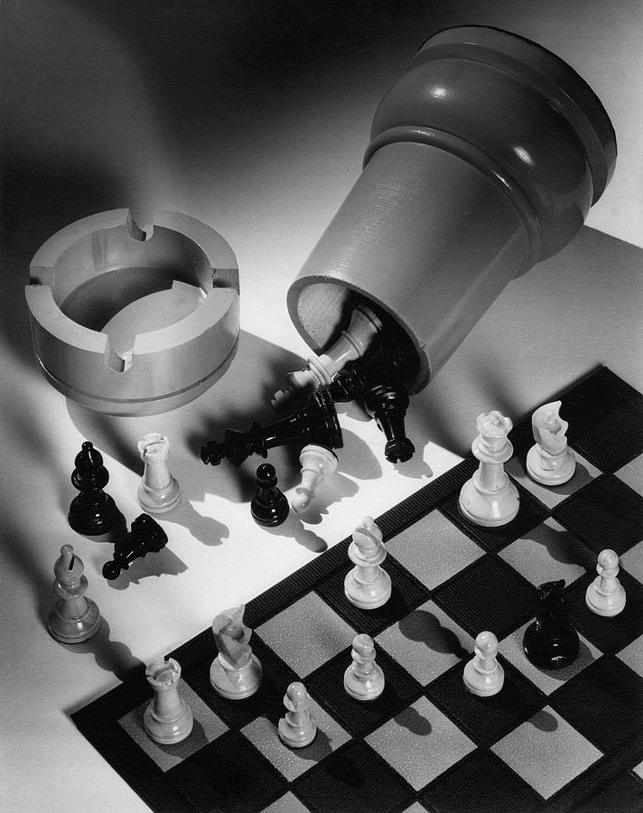 A Chess Set Photograph by Maurice Seymour
