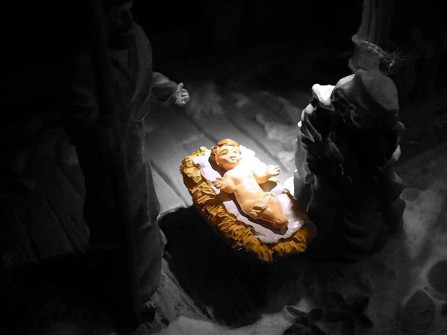 Jesus Photograph - A Child Is Born by Nicki Bennett