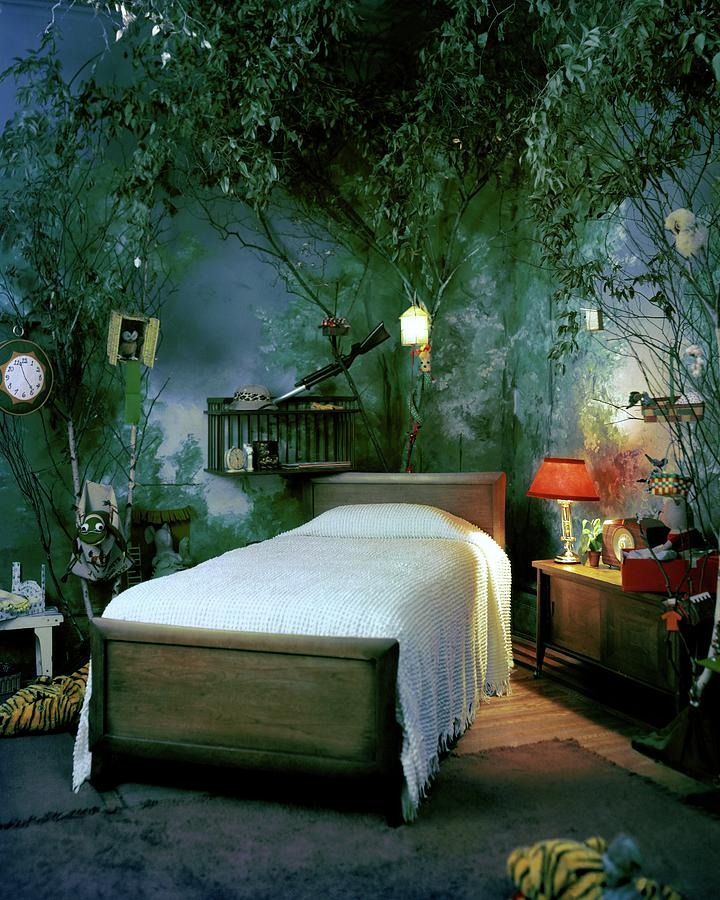 A Childs Bedroom Designed By William Riva Photograph by Otto Maya
