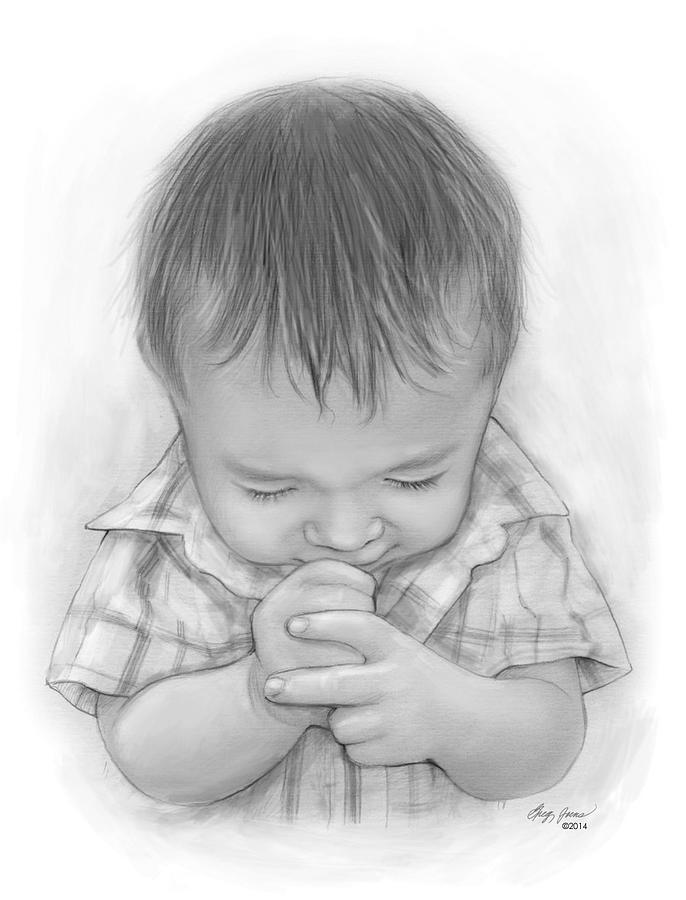 A Childs Prayer Mixed Media