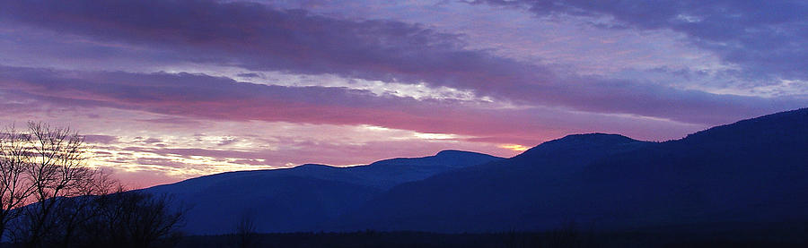 Dusk Photograph - A Chilly Dusk At The Catskill Mountain Escarpment by Terrance DePietro