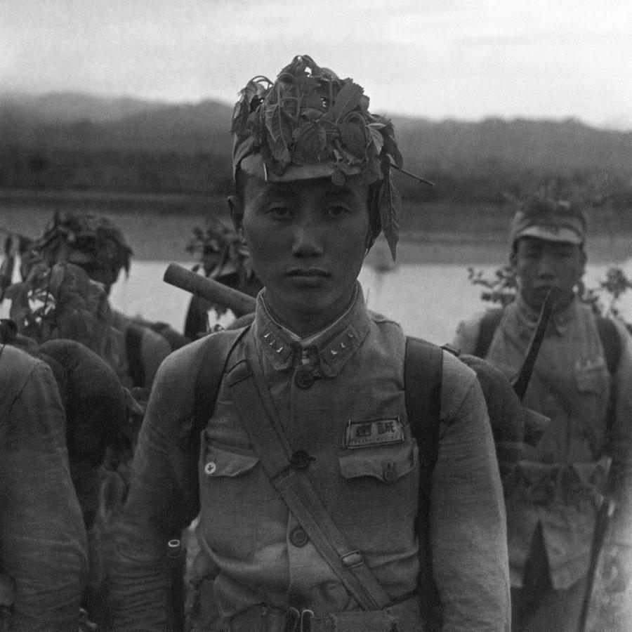 A Chinese Soldier At A Demonstration At Pihu Photograph by Cecil Beaton