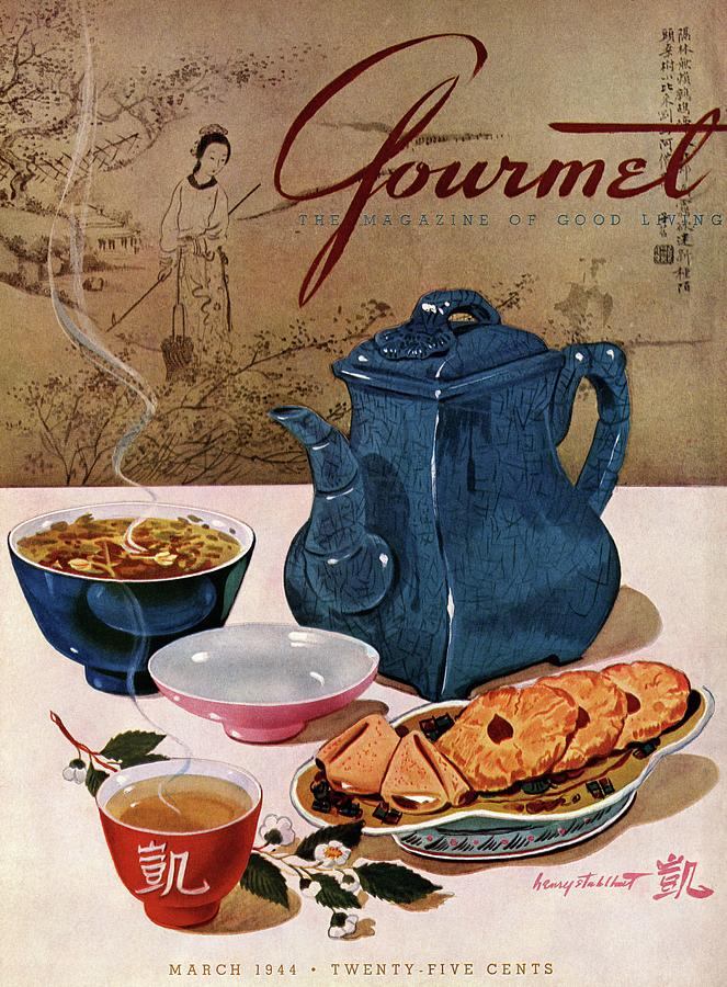 A Chinese Tea Pot With Tea And Cookies Photograph by Henry Stahlhut