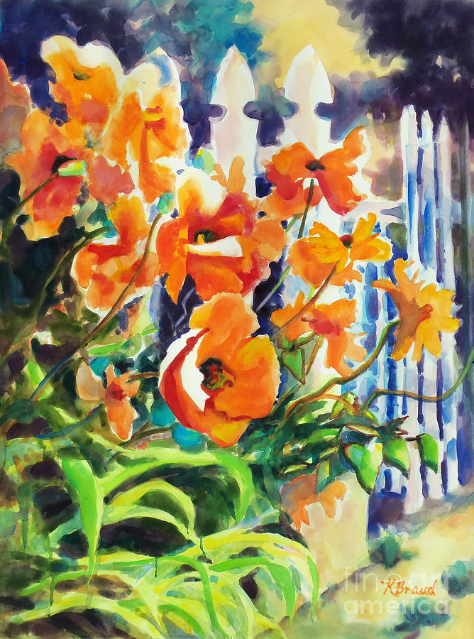 Paintings Painting - A Choir Of Poppies by Kathy Braud