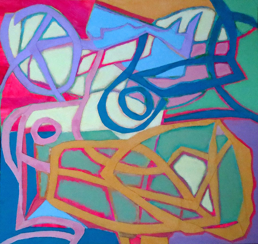 Abstract Expressionism Mixed Media - A Chord by Diane Fine