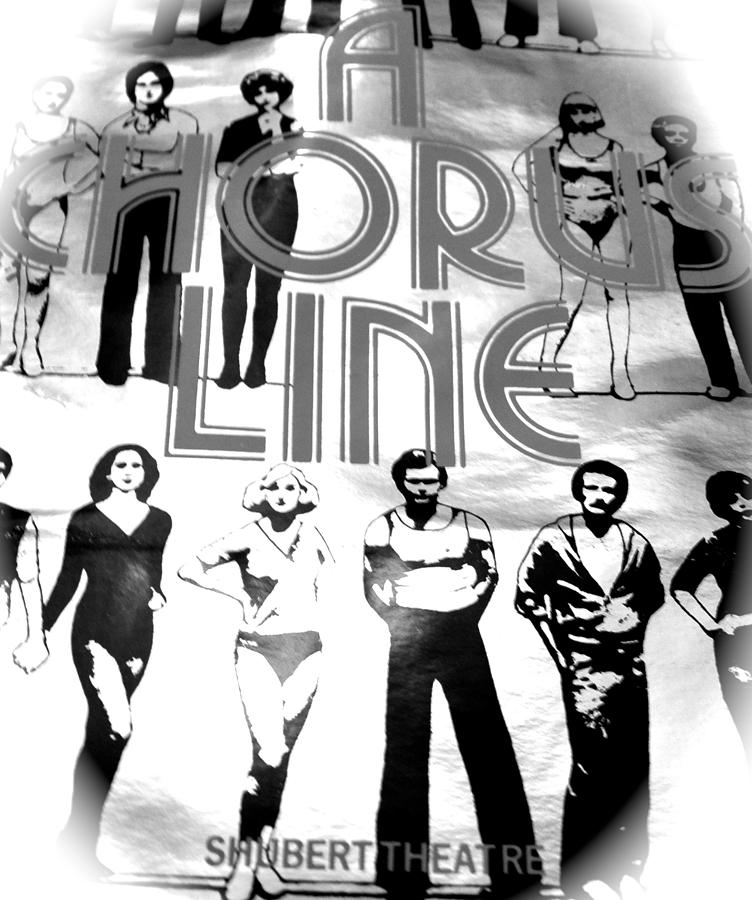 Music Photograph - A Chorus Line Vintage Bw II by Toni Ryder