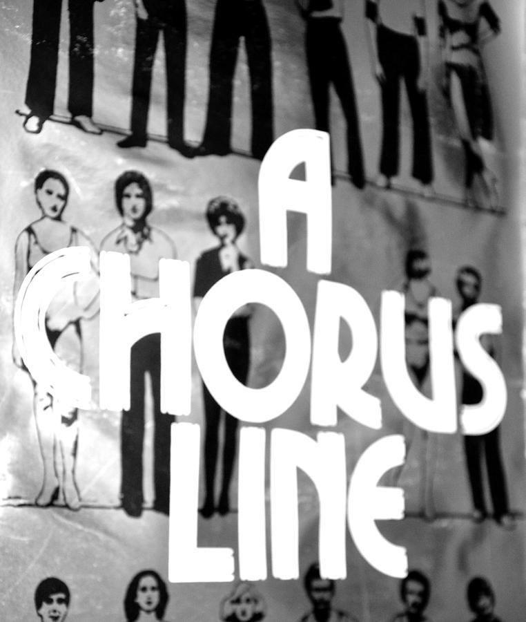Music Photograph - A Chorus Line Vintage Bw by Toni Ryder