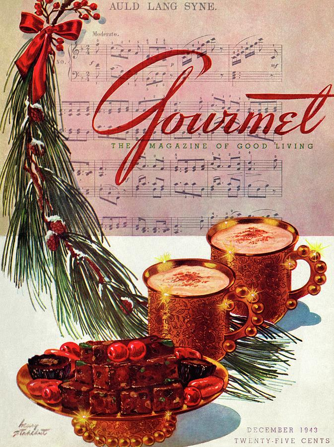 A Christmas Gourmet Cover Painting by Henry Stahlhut