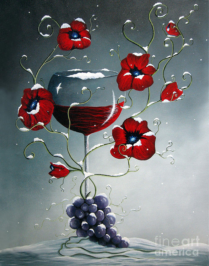 Poppies Painting - A Christmas To Remember By Shawna Erback by Shawna Erback