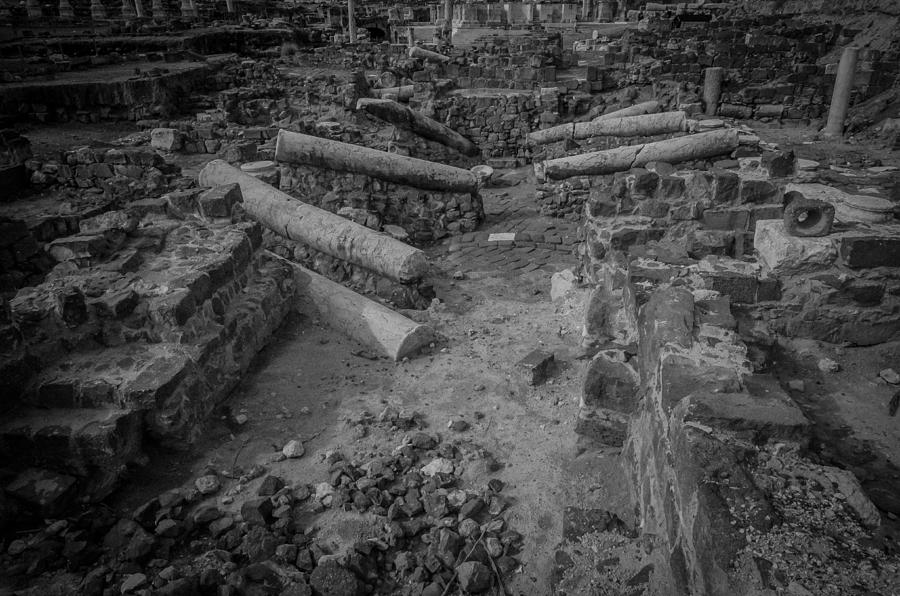 Beit She'an Photograph - A City Falls by David Morefield