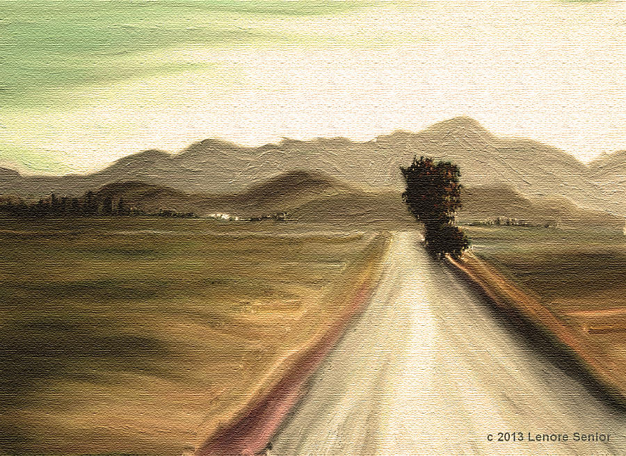 Abstract Mixed Media - A Classic Landscape by Lenore Senior