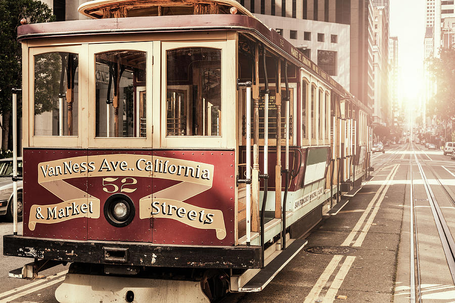 A Close-up Of A Cable Car In San Photograph by Moreiso