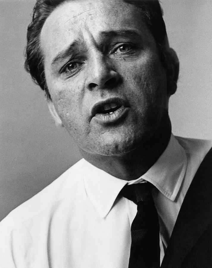 A Close-up Of Richard Burton Photograph by Bert Stern