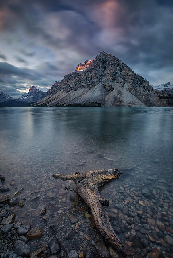 Bow Photograph - A Cloudy Day In Bow Lake by Michael Zheng