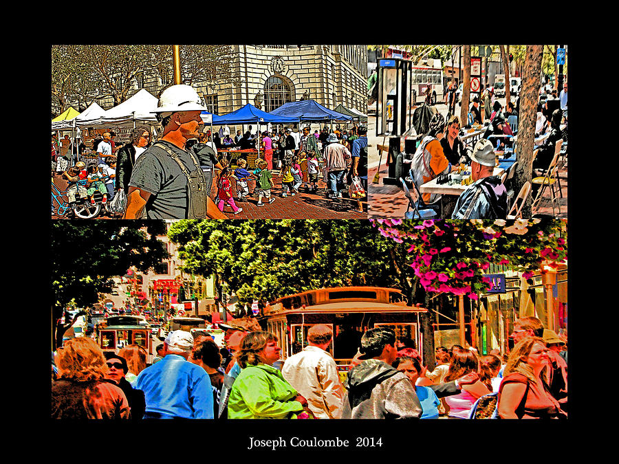 Fine Art Photograph - A Collage Of San Francisco by Joseph Coulombe