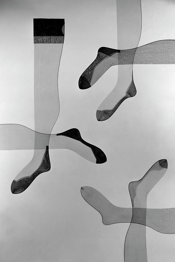 A Collage Of Stockings Photograph by Herbert Matter