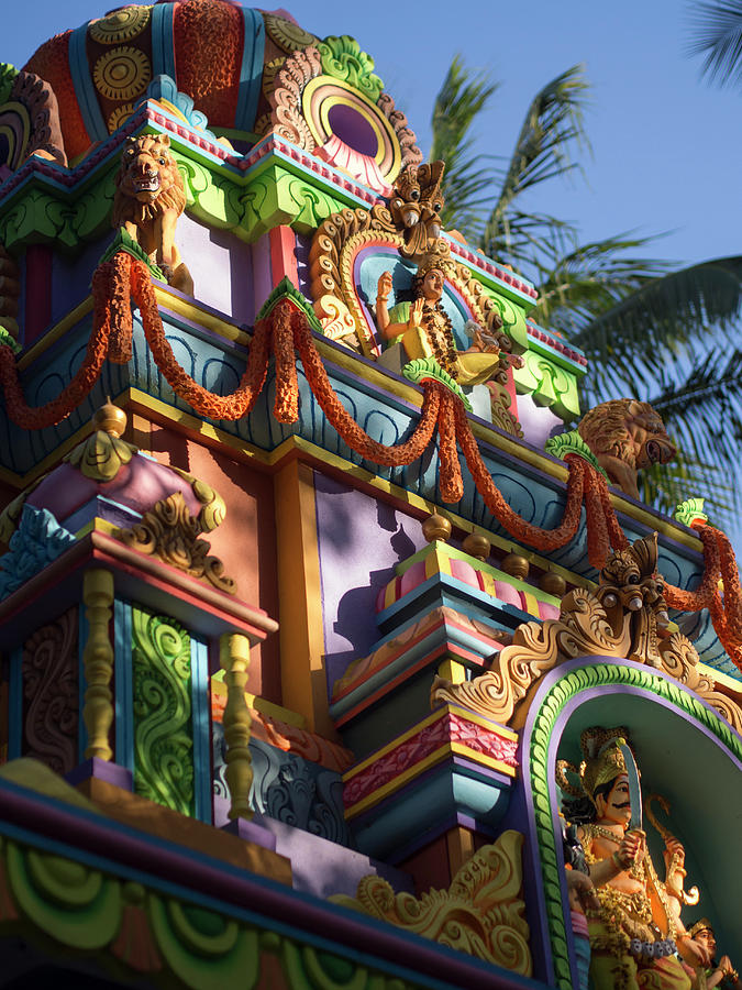 Bangalore Photograph - A Colorful Hindu Temple Is Decorated by David H. Wells