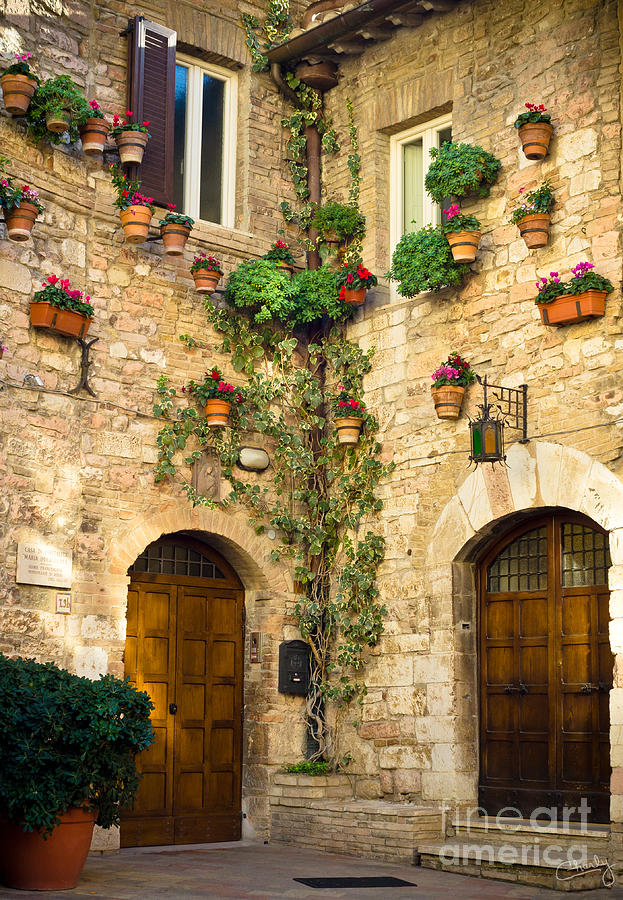 A Corner of Assisi by Prints of Italy