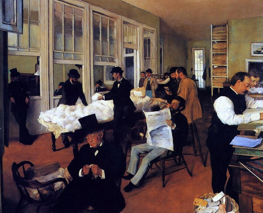 A Cotton Office in New Orleans by Degas