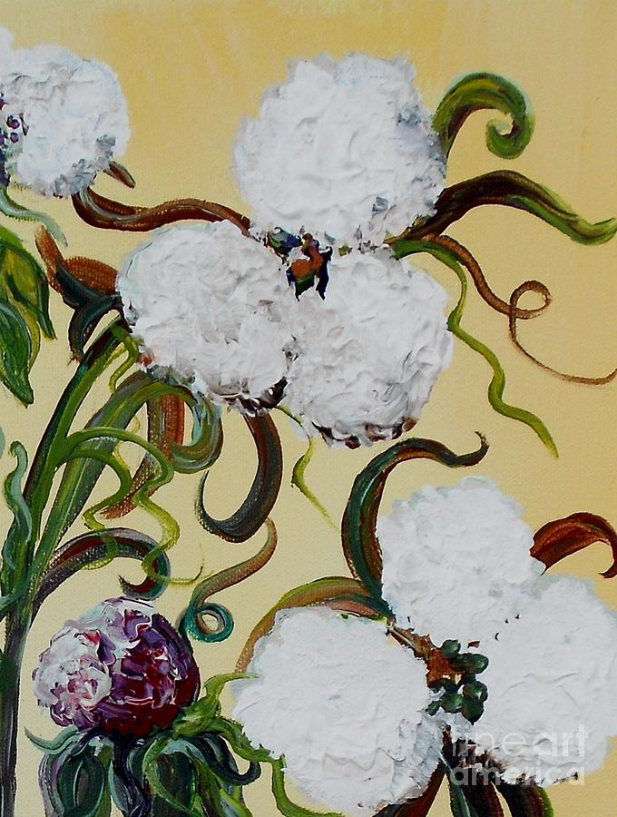 Cotton Painting - A Cotton Pickin Couple by Eloise Schneider