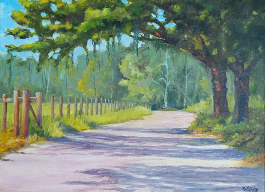 Landscape Painting - A Country Road by Rich Kuhn