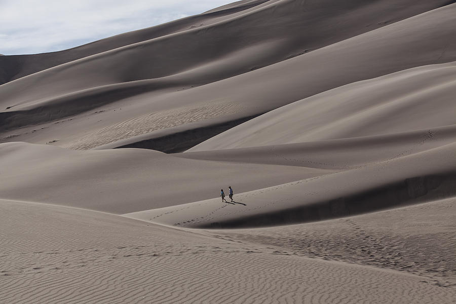 Landscapes Photograph - A Couples Stroll by Amber Kresge
