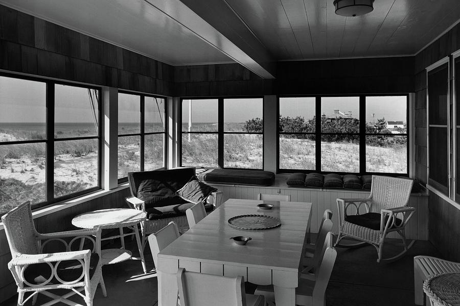 A Covered Porch With A View Photograph by Gottscho-Schleisner