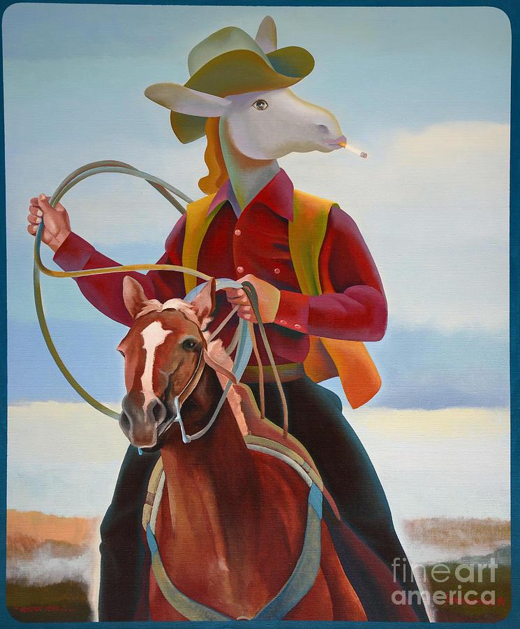 Cowboy Painting - A Cowboy by Jukka Nopsanen