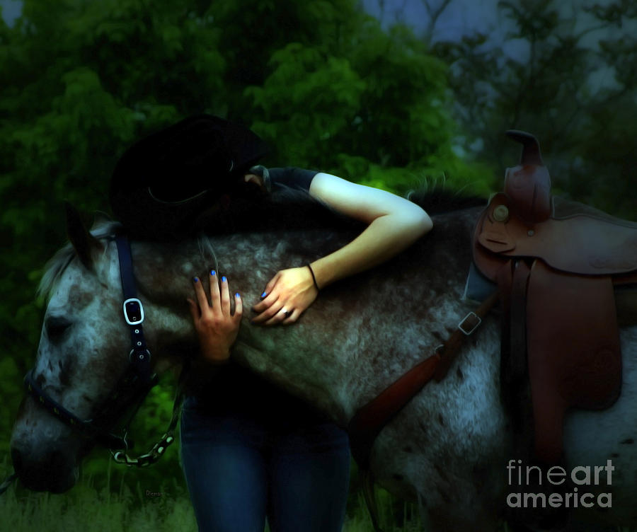 Love Photograph - A Cowgirl In Love by Steven Digman