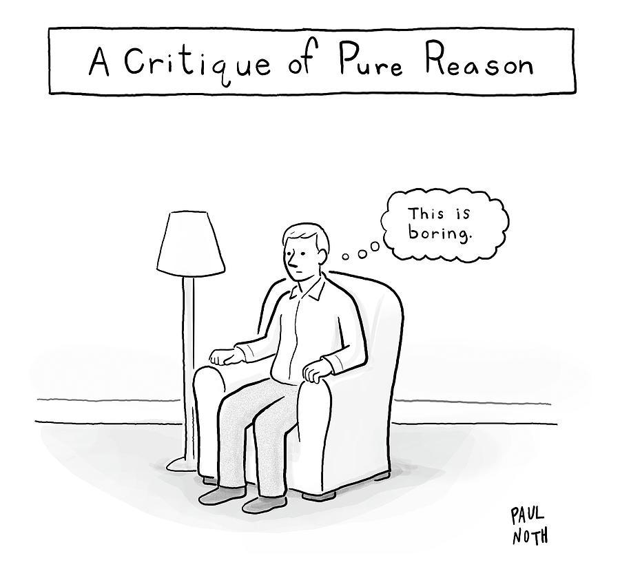 A Critique Of Pure Reason. -- A Man In An Drawing by Paul Noth