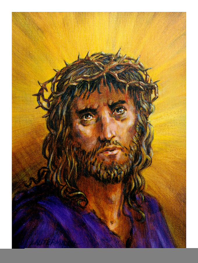 Jesus Painting - A Crown Of Thorns by John Lautermilch