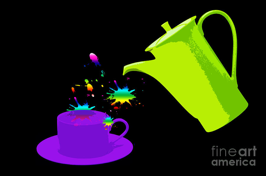Cup Photograph - A Cup Of Rainbow by Michelle Orai