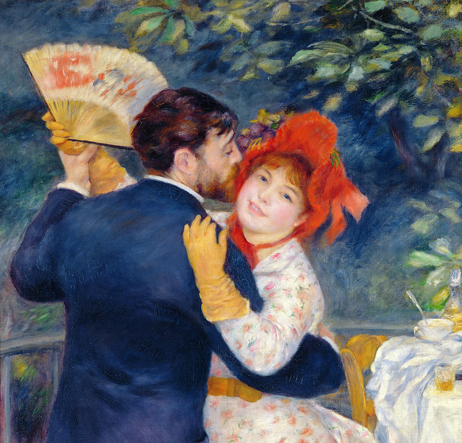 Renoir Painting - A Dance In The Country by Pierre Auguste Renoir